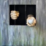 اثر هنری در نمایشگاه دستخوش